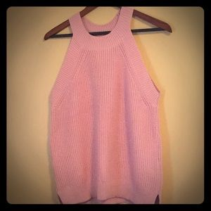 Knitted sweater tank top